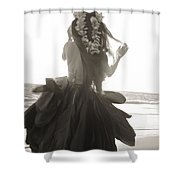 Hula Girl Shower Curtain by Tomas del Amo - Printscapes