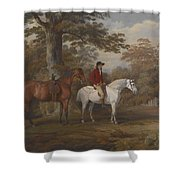 Hunter and Huntsman Shower Curtain by George Gerrard