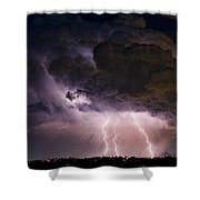 HWY 52 - HWY 287 Lightning Storm Image 29 Shower Curtain by James BO  Insogna