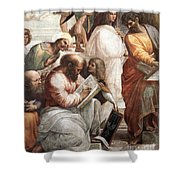 Hypatia Of Alexandria, Mathematician Shower Curtain by Science Source