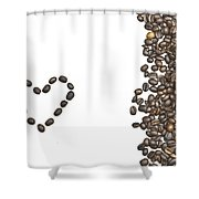 I Love Coffee Shower Curtain by Joana Kruse