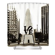 I Love Philadelphia Shower Curtain by Bill Cannon