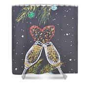 I Love You Shower Curtain by Georgeta  Blanaru