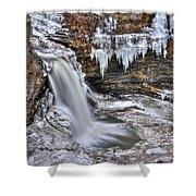 Ice Breaker Shower Curtain by Evelina Kremsdorf