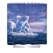 Icebeargs Shower Curtain by Jerry LoFaro