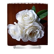 Iceberg Rose Trio Shower Curtain by Will Borden