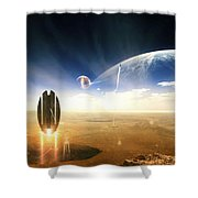 Idea Taken From Star Trek. The Project Shower Curtain by Tobias Roetsch
