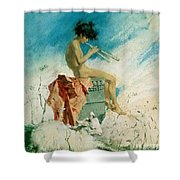 Idyll Shower Curtain by Mariano Fortuny y Marsal