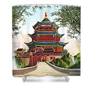 Imperial Palace Shower Curtain by Melissa A Benson