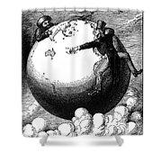 Imperialism Cartoon, 1876 Shower Curtain by Granger