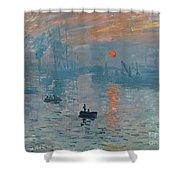 Impression Sunrise Shower Curtain by Claude Monet