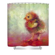 Impressionist Chick Shower Curtain by Talya Johnson