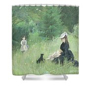 In A Park Shower Curtain by Berthe Morisot