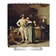 In Hoc Signo Vinces Shower Curtain by Thomas Hovenden