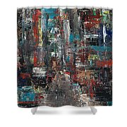 In The City Shower Curtain by Frances Marino