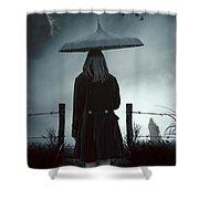 In The Dark Shower Curtain by Joana Kruse