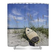 In The Dunes Shower Curtain by Benanne Stiens