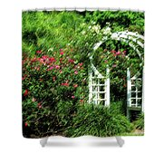 In The Garden Shower Curtain by Carolyn Marshall