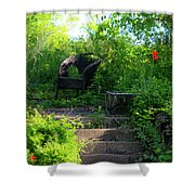 In The Garden Shower Curtain by Teresa Mucha