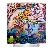 Incarnation Shower Curtain by Aswell Rowe