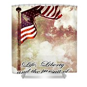 Independence Day USA Shower Curtain by Phill Petrovic