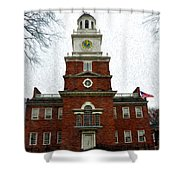 Independence Hall In Philadelphia Shower Curtain by Bill Cannon
