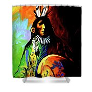 Indian Shadows Shower Curtain by Lance Headlee