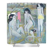 Indian Summer Shower Curtain by Endre Roder