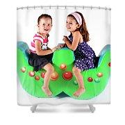 Indoor Playground Shower Curtain by Oren Shalev
