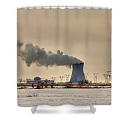 Industrialscape Shower Curtain by Evelina Kremsdorf