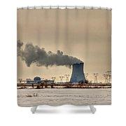 Industrialscape Shower Curtain by Evelina Kremsdorf