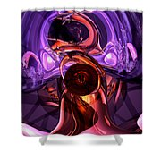 Inner Feelings Abstract Shower Curtain by Alexander Butler