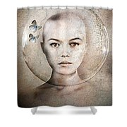 Inner World Shower Curtain by Jacky Gerritsen