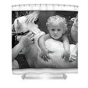 Innocence And Love Shower Curtain by Brian Wallace