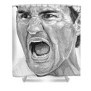 Intensity Federer Shower Curtain by Tamir Barkan