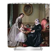 Interior At 'the Chestnuts' Wimbledon Grandmother's Birthday Shower Curtain by J L Dyckmans