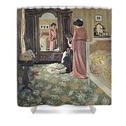 Interior Shower Curtain by Felix Edouard Vallotton
