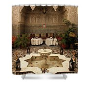 Interior Of A Traditional Riad In Fez Shower Curtain by Ralph A  Ledergerber-Photography