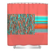 Interplay Of Warm And Cool Shower Curtain by Ben and Raisa Gertsberg