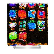 Iphone In Abstract Shower Curtain by Wingsdomain Art and Photography
