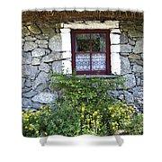 Irish Cottage Window County Clare Ireland Shower Curtain by Teresa Mucha