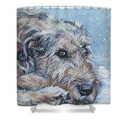 Irish Wolfhound Resting Shower Curtain by Lee Ann Shepard