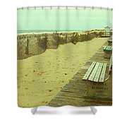 Is This A Beach Day - Jersey Shore Shower Curtain by Angie Tirado