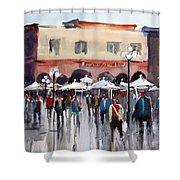 Italian Marketplace Shower Curtain by Ryan Radke