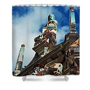 Italy and France Shower Curtain by Robert Meanor