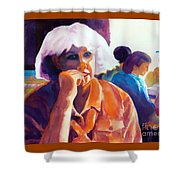 I've Got a Secret Shower Curtain by Kathy Braud