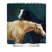 I've Got Your Back Shower Curtain by Frances Marino