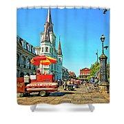 Jackson Square Shower Curtain by Steve Harrington