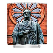 James Smithson Shower Curtain by Christopher Holmes