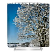 Jenne Farm Winter in Vermont Shower Curtain by Edward Fielding